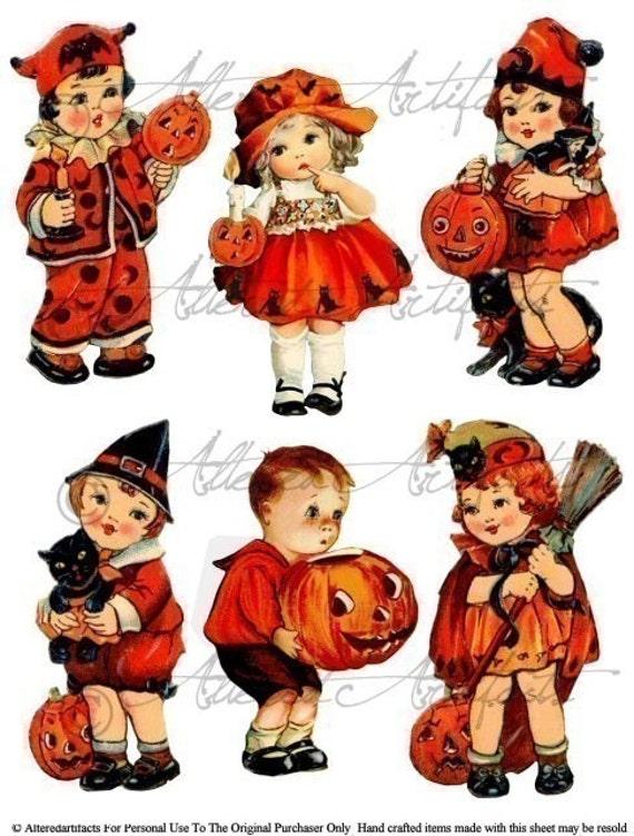Vintage Halloween Scraps  Vintage Trick Or Treaters