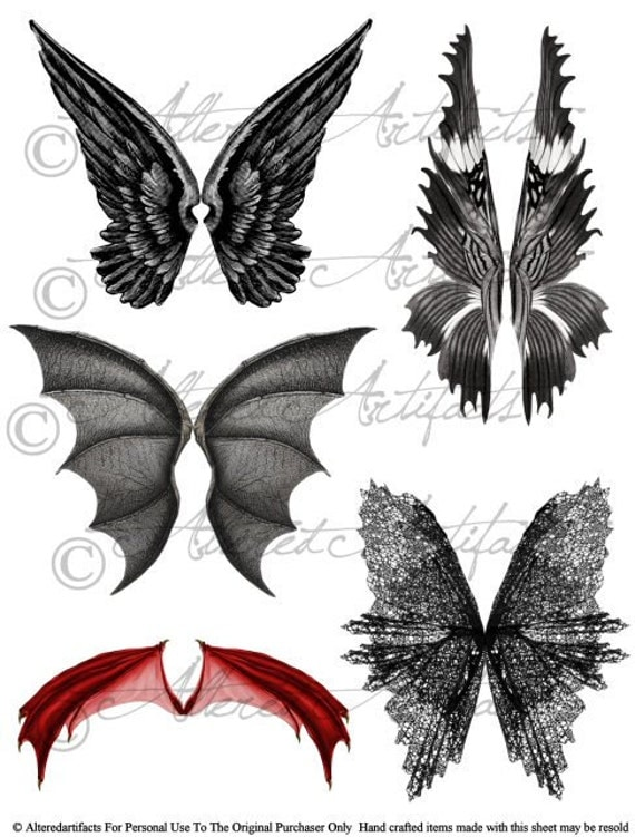 Wicked Witch Scary Fairy Wings Bat Dragon By AlteredArtifacts