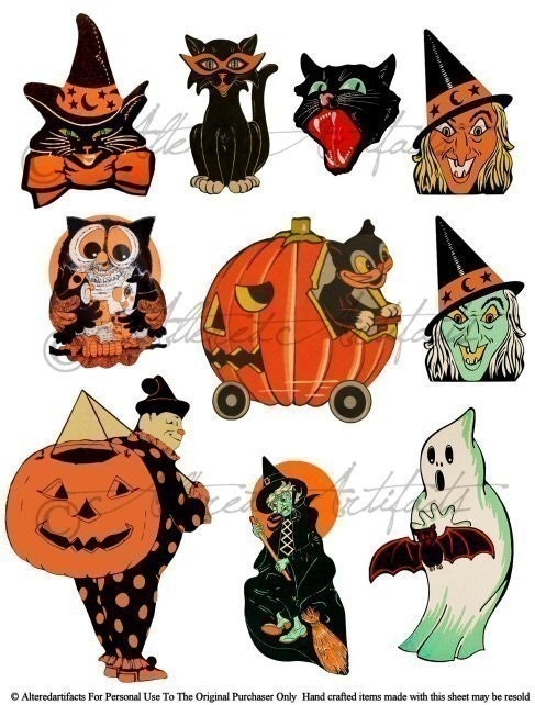 halloween clip art free vintage - photo #3
