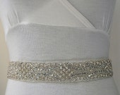 Dazzling  Mosaic-Crystal Bridal SASH,beaded sash,rhinestone wedding sash,bridesmaid gift