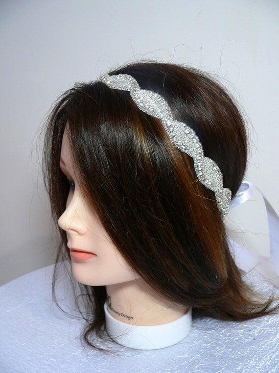 Crystal interlacing-Bridal or special ocassion Crystal Headband
