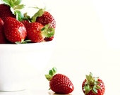 Simply Strawberries- a fine art food photography print (8x8)