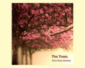 SALE - 2011 Mini Calendar - 4x6 - 12 Trees for the new year - Holiday Decor. Home Decor. The perfect stocking stuffer for your favorite art lover -inexpensive and affordable home decor and hostess gift - - under 5 dollars  - secret santa. Stocking Stuffer