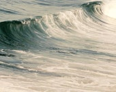 Ocean Photography, Blue, Gray, White, Beach Decor, Waves Photo, Powder Room Art, Nautical Decor
