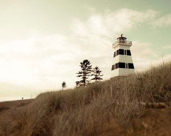 Lighthouse Photo, Brown, Rustic, Mint,  Beach House Decor, Lighthouse Print, Shabby Chic, Travel Photography