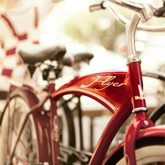 Red American Flyer, Bike Print, Bicycle Photography, Baby Boy, Nursery Decor, Vintage, Retro, Bike Print, Nursery Print, Red Bike