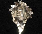Tatsuta-Hime   Goddess of Autumn PMC pure silver pendant