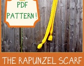 Pattern - Rapunzel Double Sided Cable Scarf for All Ages