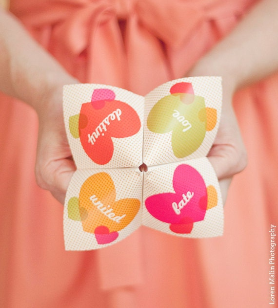 Cute Wedding Invitation Wording Samples: Cootie Catcher Invitation Suite SAMPLE ONLY Price By