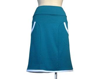 Winter jersey skirt. Aline skirt with pockets. Custom skirt. Womens clothing. Plus size skirts. XL skirt. XXL skirt. Womens skirt.