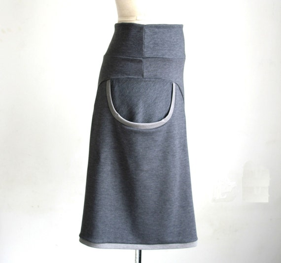 Gray Pocket Skirt - in NEW colors