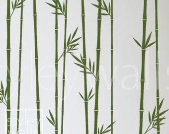 Bamboo Wall Decal, Bamboo Stalks Wall Decal, Bamboos Wall Sticker for Living Room, Bamboos Wall Decor, Bamboo Tree Wall Decal Wall Decor