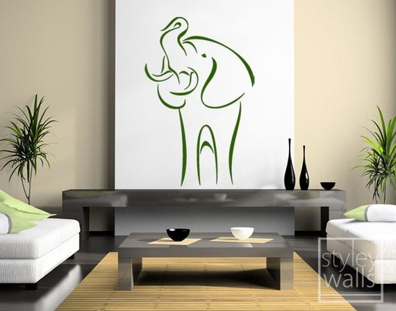 Exquisite Elephant Art Wall Decal