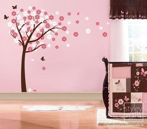 cherry blossom tree tree wall decal sticker nursery by cherry blossom tree wall decal by popdecors