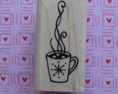 HOT CHOCOLATE - COCOA - A Muse Rubber Stamp
