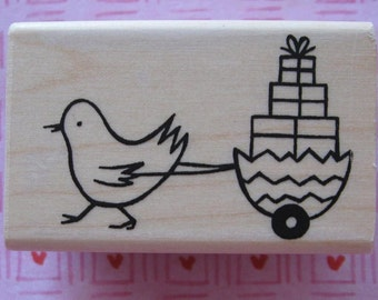 EASTER CHICK CART - A Muse Rubber Stamp