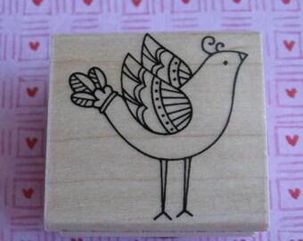 Fancy Bird - Hero Arts Rubber Stamp