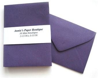 10 Mini Envelopes - Grape Purple
