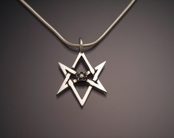 Sterling Unicursal Hexagram Pendant