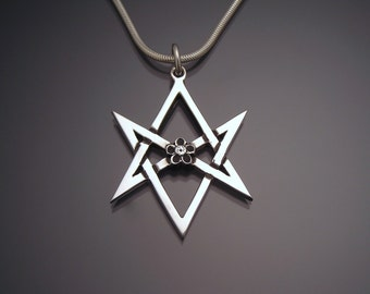 Sterling Unicursal Hexagram Pendant (large)
