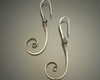 Sterling Silver double Nail Earrings