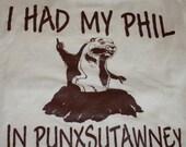 Groundhog Day Shirt M Vintage 90s Phil Punxsutawney