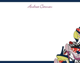 Notecard / Stationery - Personalized - High Heels - Printable File