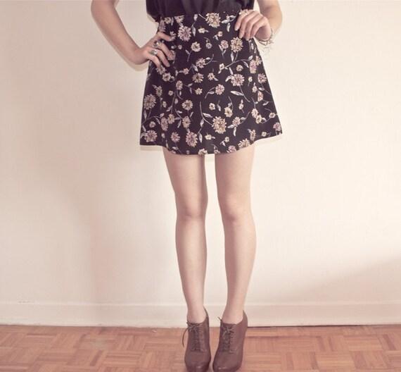 Vintage Floral Miniskirt