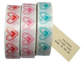 heart print decorative sticky tape