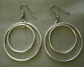"""Surgical Steel Earrings - """"Silver Double Hoops"""" (Hypoallergenic Earrings for Sensitive Ears) by Pretty Sensitive Ears"""