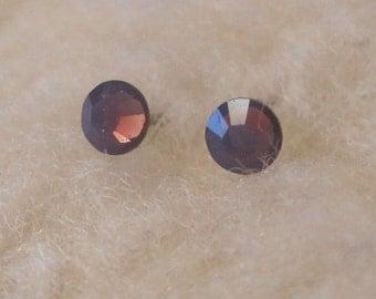 "Niobium Post Earrings - ""Cyclamen Crystals 3.9mm"" (Hypoallergenic Earrings for Sensitive Ears // Nickel Free Stud Earrings)"
