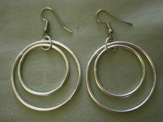 "Surgical Steel Earrings - ""Silver Double Hoops"" (Hypoallergenic Earrings for Sensitive Ears) by Pretty Sensitive Ears"