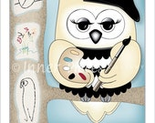 Childrens Owl Art Print