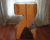 Black Walnut Log Table Stump Stool Pedestal or Plantstand Reclaimed Timber Rustic Modern Z2
