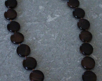 SALE Genuine Tigers Eye Stone Necklace