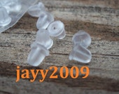 Commercial, supplies, earring, findings, Rubber earnut, silicone, smooth, 100 pcs approximate