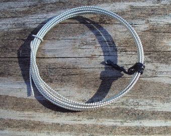 1 ft - 18g Twist wire, dead soft, Argentium sterling silver, commercial supplies