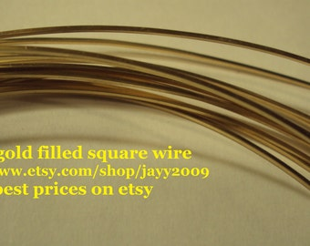 14k gf 21g SQUARE wire, hh, 10 ft, 14kt gold filled, 21ga,