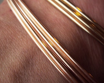 One Troy Ounce- 14kt pink gold fill ROUND wire, dead soft, or half hard, any gauge
