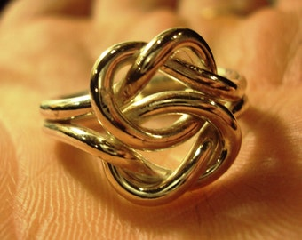 Etsy Jewelry, ring, knot, love knot, celtic, 12g, massive, statement, bold, argentium sterling silver, sz 6 and up