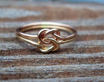 Etsy jewelry, set of 2, love KNOT rings, celtic, friendship rings, gifts for her, mom, mothers, friends