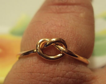 Etsy Jewelry, ring, 14kt  rose gold filled,  knot ring, 16g, one ring