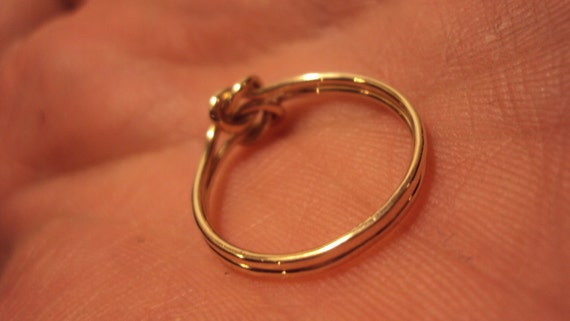SALE, 10k solid gold, Jewelry, ring, gold 18g knot ring, knot ring, available sizes 3 - 9 at this price