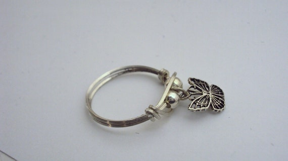 Jewelry, Ring, charm, dangle, argentium, sterling silver, butterfly, BALANCE owed on set of 11 rings