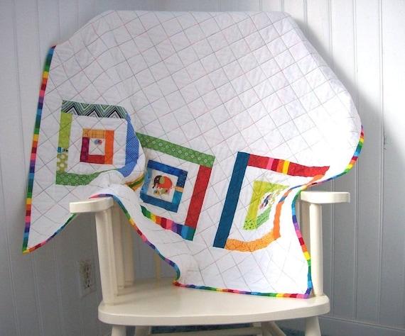 Modern Elephants Baby Quilt