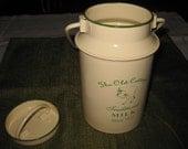 Vintage Enamelware Miniature Milk Can ON SALE