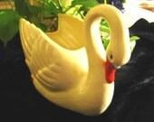 Vintage Collectible Brush McCoy USA Swan Pottery Planter/Vase ON SALE