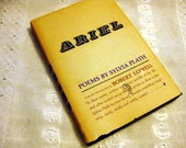 Vintage Hardcover with Dust Jacket ARIEL by Sylvia Plath 1966 American Edition PRICE REDUCED