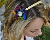 Multicolor Flower Headband