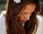 Shabby Chic Cotton Flower Clip